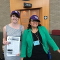Gail and Aisha Center Aisle handouts